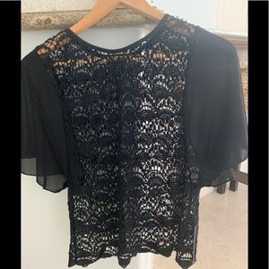 BCBG Open Knit NWT Top S/M